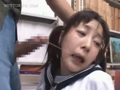 brunette-asian-mouth-fucked-hard-in-school-library