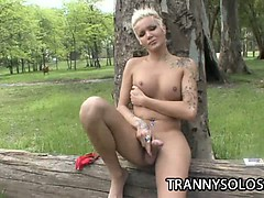 blondie-beautiful-outdoor-jerking-scene-with-hot-shemale