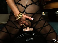 Busty Rachel Aziani rides the sybian sex machine
