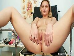 Zaneta gyno pussy bizarre fetish pussy speculum examination at gyno clinic