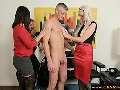 cfnm-milf-group-feel-up-naked-guy