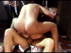 Sweet Ass Blonde Teen Getting Double Penetrated