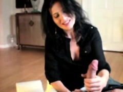 mature-handjob-milf-stops-cleaning-to-jerk