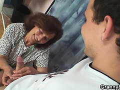 sewing-granny-enjoys-riding-young-cock