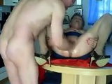 Mature Woman Fisted In The Kitchen