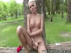 tranny-jerking-off-in-the-woods