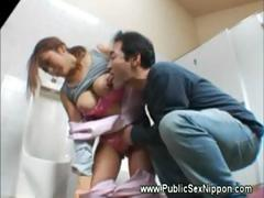 pleasing-the-asian-cleaner-in-bathroom