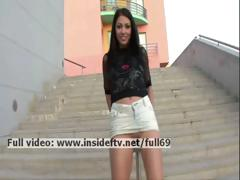 Suri _ Amateur brunette showing us her pussy and ass in public