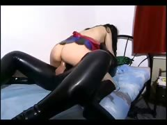 Two master fucking a slave girl