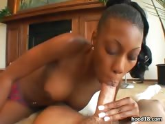 Black Girl Blows A Lucky Guy For Fun