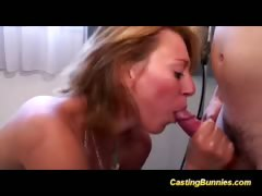 Casting Hot Bunny Taking Cock And Sucking Hard