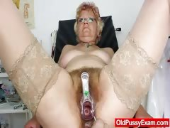 Furry vag gramma needs a pussy examination